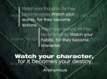 Becomes Your Destiny by Anonymous Inspirational Graphic Quote