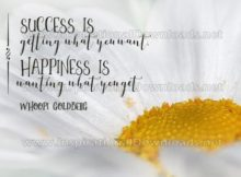 Success And Happiness by Whoopi Goldberg Inspirational Graphic Quote