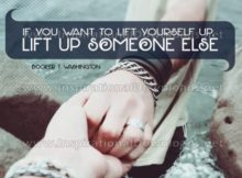 Lift Up Someone Else by Booker T. Washington Inspirational Graphic Quote