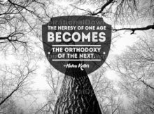 Heresy Of One Age by Helen Keller Inspirational Graphic Quote