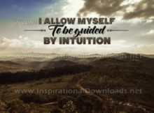 Be Guided By Intuition by Positive Affirmations Inspirational Graphic Quote
