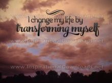 Transforming Myself by Positive Affirmations Inspirational Graphic Quote