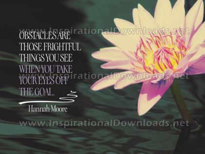 Eyes Off The Goal by Hannah Moore Inspirational Graphic Quote