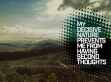 Decisive Nature by Positive Affirmations Inspirational Graphic Quote