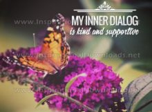 Inner Dialog by Positive Affirmations Inspirational Graphic Quote