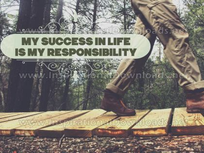 My Success In Life by Positive Affirmations Inspirational Graphic Quote