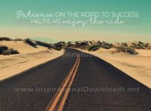Road To Success by Positive Affirmations Inspirational Graphic Quote