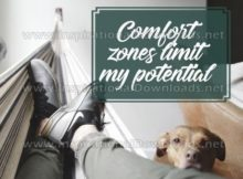Comfort Zones by Positive Affirmations Inspirational Graphic Quote