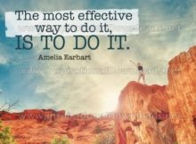 Most Effective Way To Do by Amelia Earhart Inspirational Graphic Quote