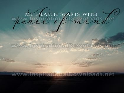 Starts With Peace Of Mind by Positive Affirmations Inspirational Graphic Quote