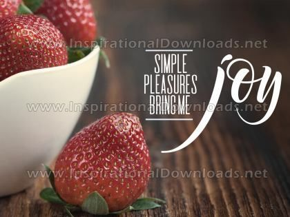 Simple Pleasures Bring Me Joy by Positive Affirmations Inspirational Graphic Quote