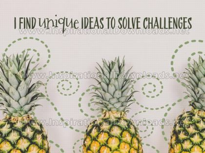 Unique Ideas To Solve Challenges by Positive Affirmations Inspirational Graphic Quote