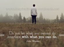 What You Can Do by John Wooden Inspirational Graphic Quote
