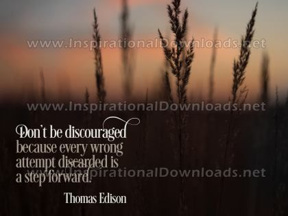 A Step Forward by Thomas Edison Inspirational Graphic Quote