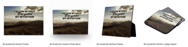 Be Guided By Intuition Inspirational Graphic Quote Customized Products