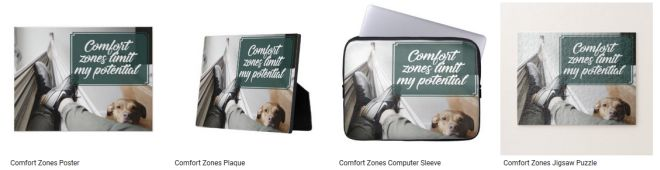 Comfort Zones Inspirational Graphic Quote Inspirational Downloads Customized Products