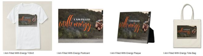 I Am Filled With Energy Inspirational Graphic Quote Inspirational Downloads Customized Products