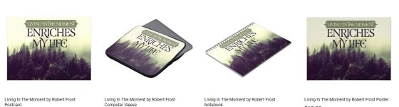 Living In The Moment Inspirational Graphic Quote Customized Products