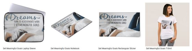 Set Meaningful Goals Inspirational Graphic Quote Inspirational Downloads Customized Products