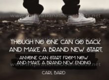 Make A Brand New Ending by Carl Bard Inspirational Graphic Quote