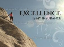 Excellence Is My Insurance by Inspiring Thoughts Inspirational Quote Graphic