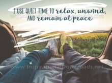 Use Quiet Time Inspirational Quote Graphic