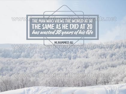 Man Who Views The World by Muhammed Ali Inspirational Quote Graphic