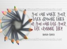 Live Your Life Crossing Them by Shonda Rhimes Inspirational Quote Graphic