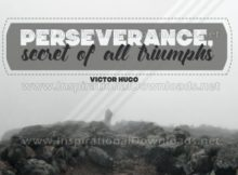Secret Of All Triumphs by Victor Hugo Inspirational Quote Graphic