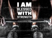Blessed With Strength by Inspiring Thoughts Inspirational Quote Graphic
