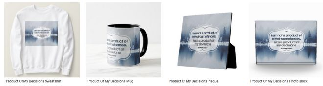 Product Of My Decisions Inspirational Quote Graphic Customized Products