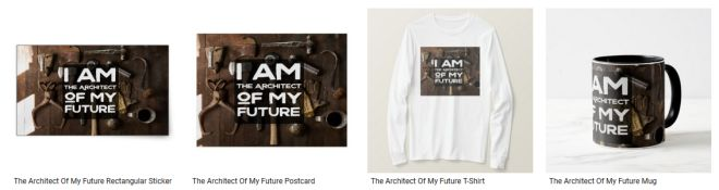 The Architect Of My Future Inspirational Quote Graphic Customized Products
