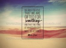 Believe That We Are GIFTED by Marie Curie Inspirational Quote Graphic