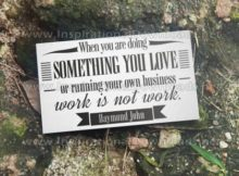 Doing Something You Love by Daymond John Inspirational Quote Graphic