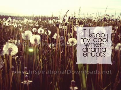 Keep My Cool by Inspiring Thoughts Inspirational Quote Graphic