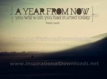 Wish You Had Started Today by Karen Lamb Inspirational Quote Graphic