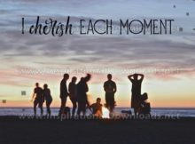 Cherish Each Moment by Inspiring Thoughts Inspirational Quote Graphic