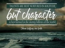 Character Is Best Formed by Johann Wolfgang von Goethe Inspirational Quote Graphic