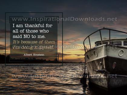 I Am Thankful by Albert Einstein Inspirational Quote Graphic