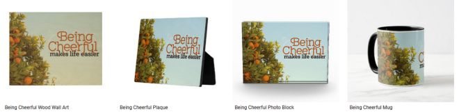 [Being Cheerful] Inspirational Quote Graphic Customized Products