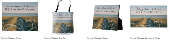 Capable Of Giving Inspirational Quote Graphic Customized Products