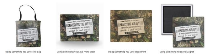 [Doing Something You Love] Inspirational Quote Graphic Customized Products