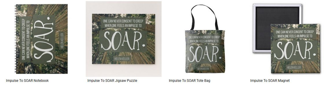 [Impulse To SOAR] Inspirational Quote Graphic Customized Products