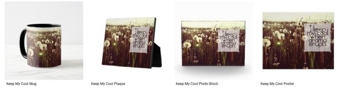 [Keep My Cool] Inspirational Quote Graphic Customized Products