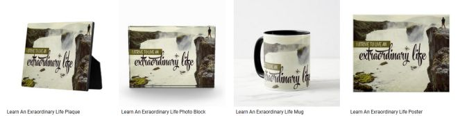 [Learn An Exraordinary Life] Inspirational Quote Graphic Customized Products