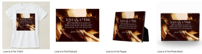 [Love Is A Fire] Inspirational Quote Graphic Customized Products