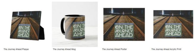 The Journey Ahead Inspirational Quote Graphic Customized Products