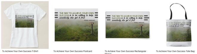 To Achieve Your Own Success Inspirational Quote Graphic Customized Products