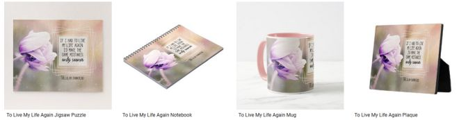 Live My Life Again Inspirational Quote Graphic Customized Products