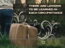 essons Learned In Each Circumstance Inspirational Quote Graphic by Inspiring Thoughts